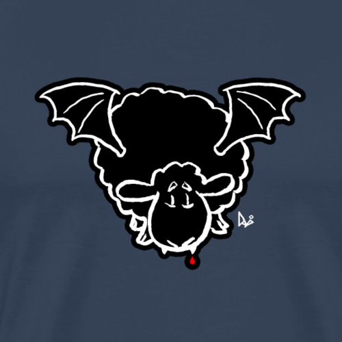 Vampire Sheep (white) - Men's Premium T-Shirt