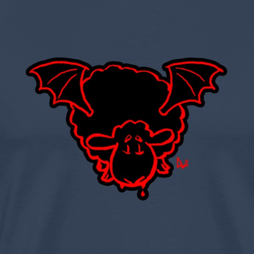 Vampire Sheep (red) - Men's Premium T-Shirt