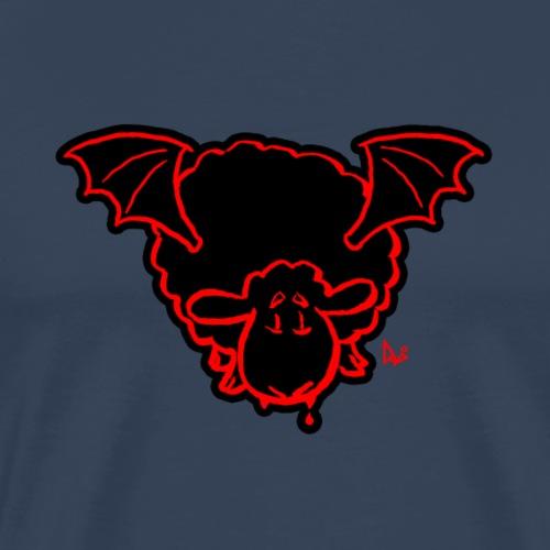 Vampire Sheep (red) - Premium T-skjorte for menn