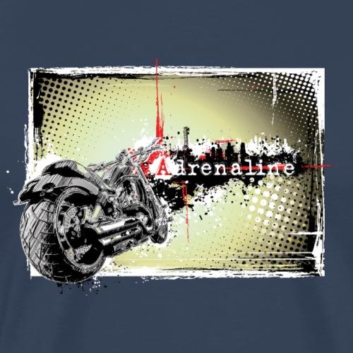 Moto Illustration Adrenaline - T-shirt Premium Homme