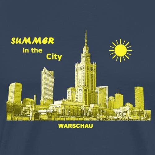 Summer Warschau City Warsaw Kulturpalast Polen - Männer Premium T-Shirt