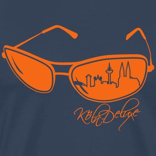 Köln Deluxe Brillenmotiv - Männer Premium T-Shirt