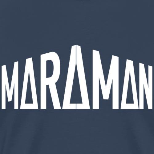 Maraman logo valkoinen - Miesten premium t-paita