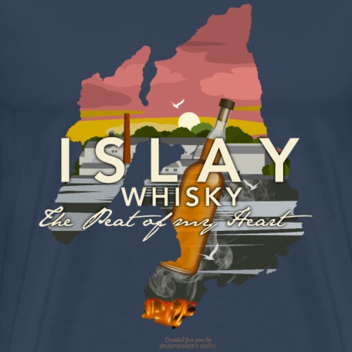 Islay Whisky Peat of My Heart Dusk   Whisky Shirts - Männer Premium T-Shirt