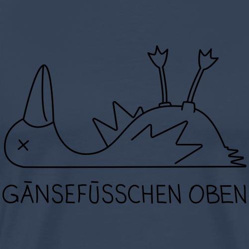 Gänsefüsschen oben - Männer Premium T-Shirt