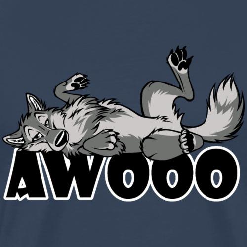 Awooo Lazy Feral - Männer Premium T-Shirt