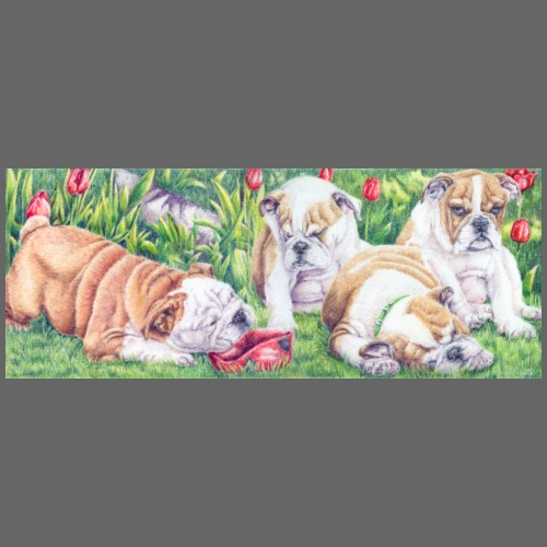 english bulldog pups - Herre premium T-shirt