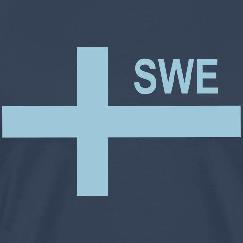 Swedish Tactical Flag (Neg) Sweden - Sverige - SWE - Premium-T-shirt herr