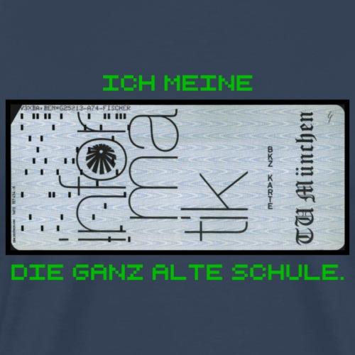 Infomatik Computer Lochkarte die Alte Schule - Männer Premium T-Shirt