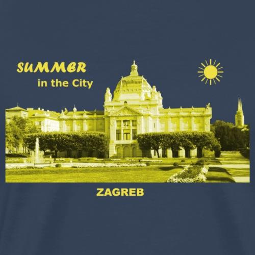 Sommer Zagreb Kroatien Istrien Nationaltheater - Männer Premium T-Shirt