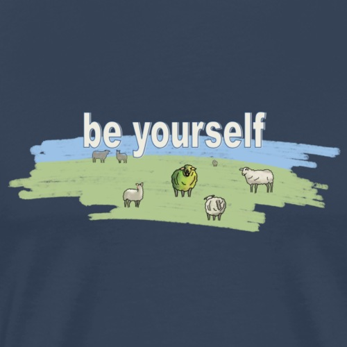 Schaf be yourself - Männer Premium T-Shirt