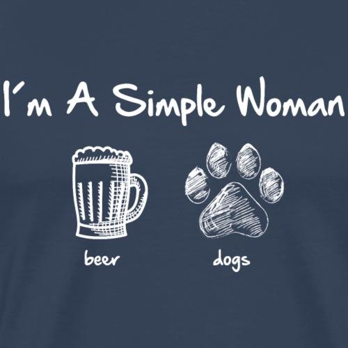 simple woman beer white - Männer Premium T-Shirt