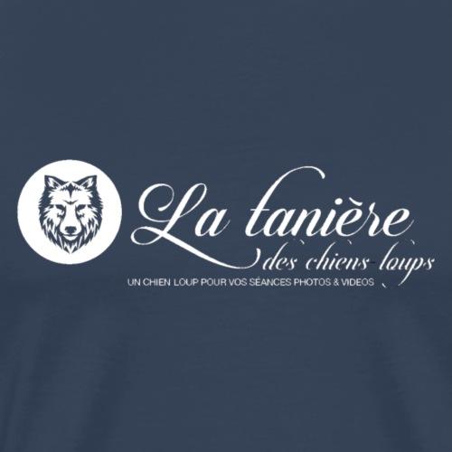La Tanière des Chiens-Loups (logo plus grand) - T-shirt Premium Homme