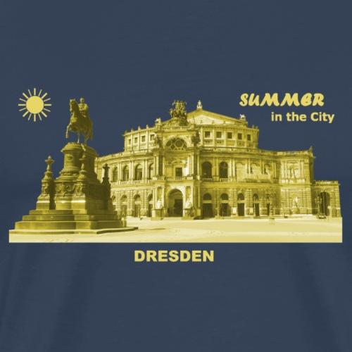 Summer Dresden Semperoper Sachsen Denkmal - Männer Premium T-Shirt