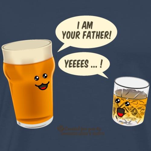 Bier & Whisky Spruch I am your father - Männer Premium T-Shirt