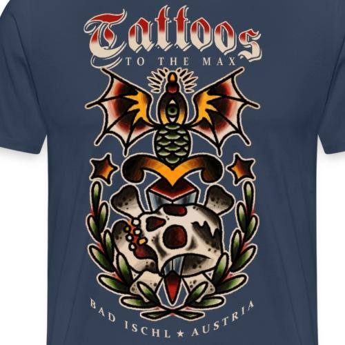 Tattoos to the Max - Dagger Skull - Männer Premium T-Shirt