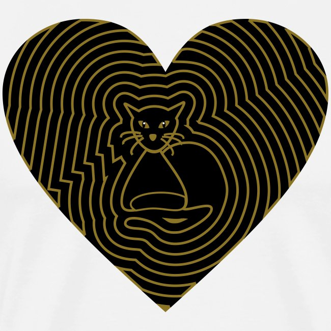 Katzen Herz Spirale 2 Färbig