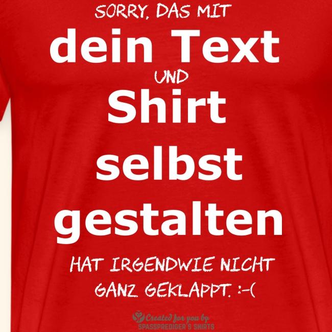 Lustiger Spruch Shirt selbst gestalten