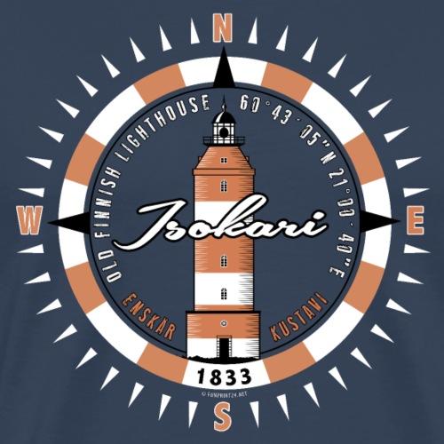 ISOKARI MAJAKKA Kompassi tekstiilit, lahjatuotteet - Miesten premium t-paita