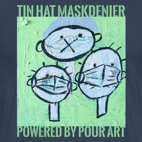 Tin hat maskdenier - Herre premium T-shirt