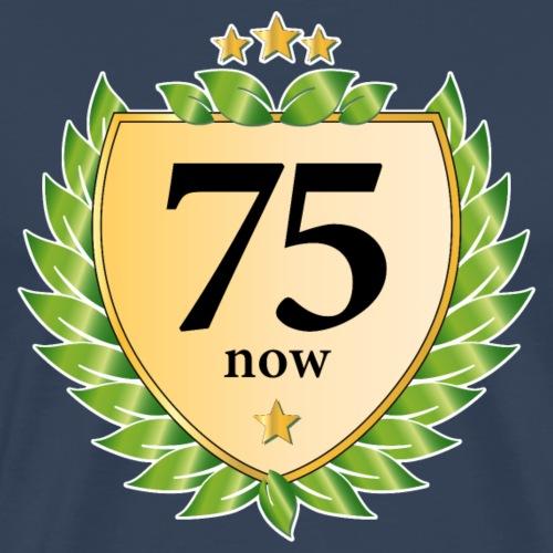 75. Geburtstag Wappen Lorbeerkranz goldene Sterne - Men's Premium T-Shirt