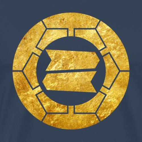 Hattori clan kamon in faux gold - Men's Premium T-Shirt