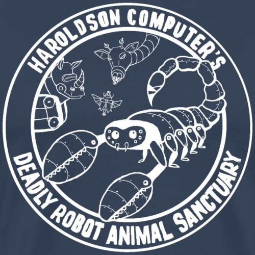 Haroldson Computer's Deadly Robot Animal Sanctuary - Men's Premium T-Shirt