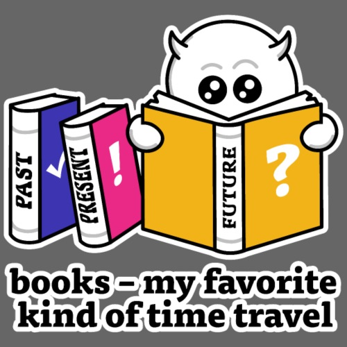 books – my favorite kind of time travel - Männer Premium T-Shirt