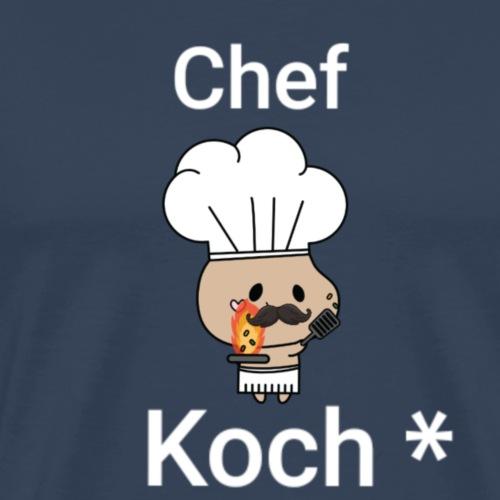 Witzig + Koch + Chef + Spruch +Geschenk - Männer Premium T-Shirt
