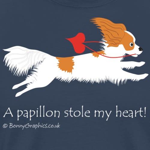 Papillon thief brown and white - Men's Premium T-Shirt
