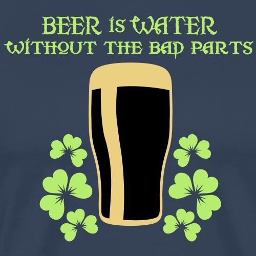 Beer is Water, dreifarbig - Männer Premium T-Shirt