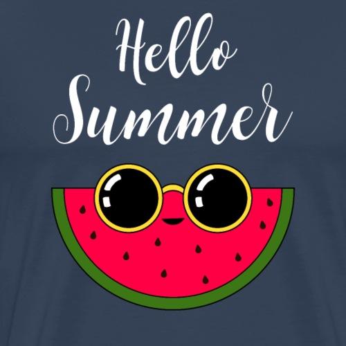 Hello Summer Watermelon - Herre premium T-shirt