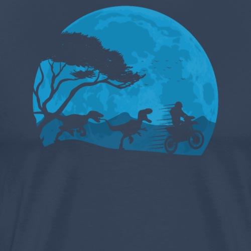 Motorbike And Dino Moonwalk - Männer Premium T-Shirt