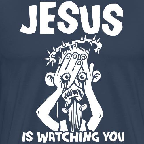 Jesus ist watching you - Männer Premium T-Shirt