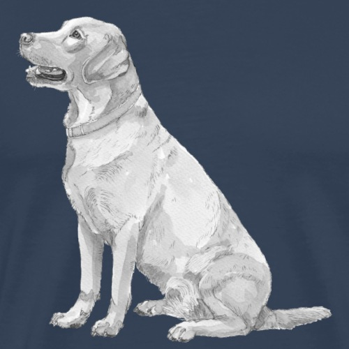labrador Retriever Yellow - Ink - Herre premium T-shirt
