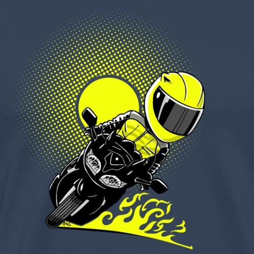 0791 fjr sun knal geel - Mannen Premium T-shirt
