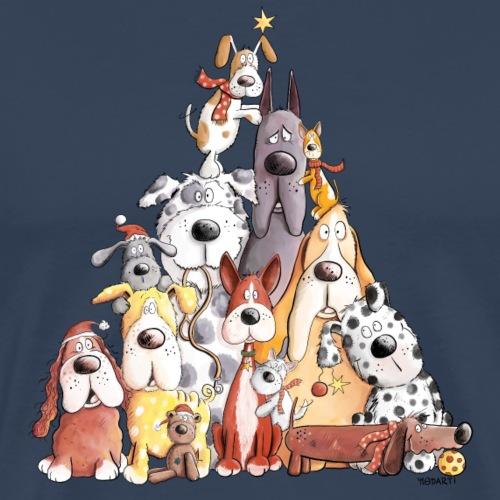 MERRY WOOFMAS Weihnachten Hundehaufen I Hunde - Männer Premium T-Shirt