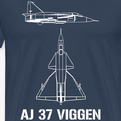 AJ 37 VIGGEN - Premium-T-shirt herr