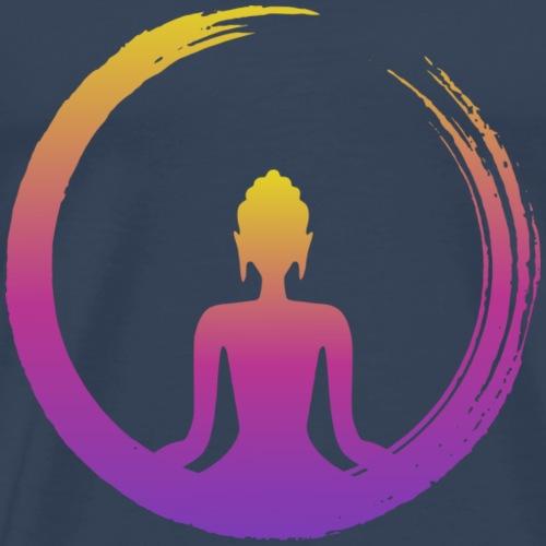 Buda Zen Arcoíris - Camiseta premium hombre