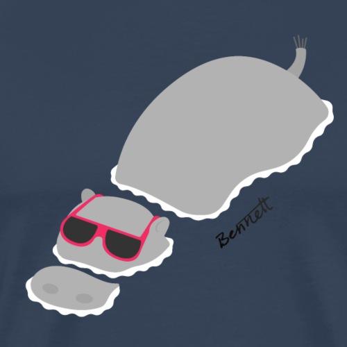 Chillin' Hippo - Mannen Premium T-shirt
