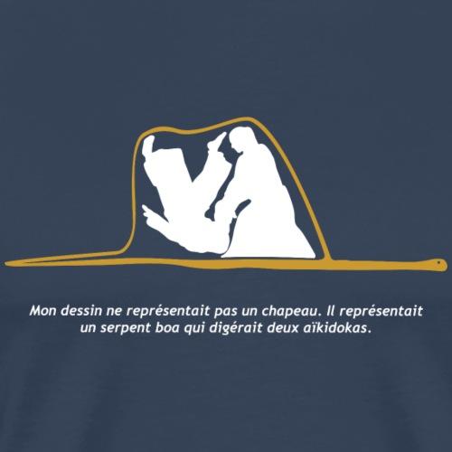 Aikido Boa fondo negro - Camiseta premium hombre