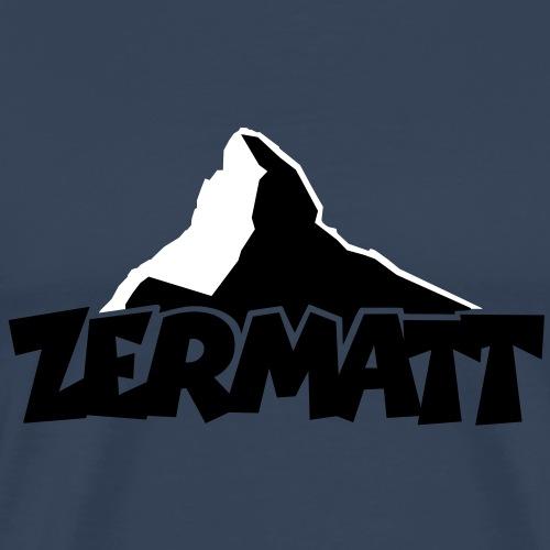 Zermatt am Matterhorn - Männer Premium T-Shirt