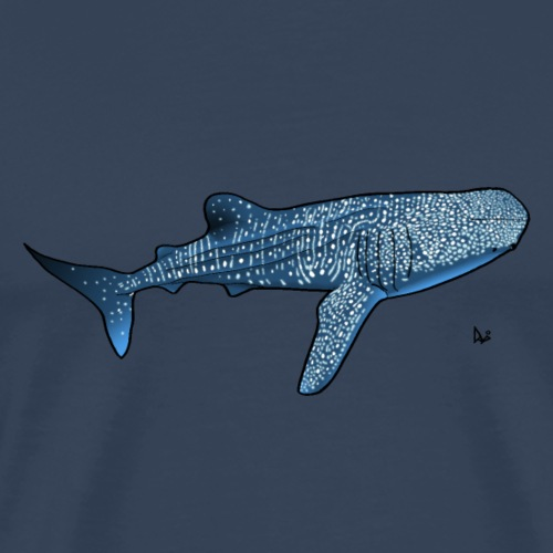 Whale shark - Premium T-skjorte for menn