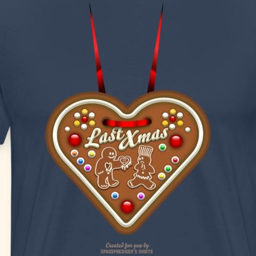 Ugly Christmas Design Last Xmas für Weihnachten - Männer Premium T-Shirt