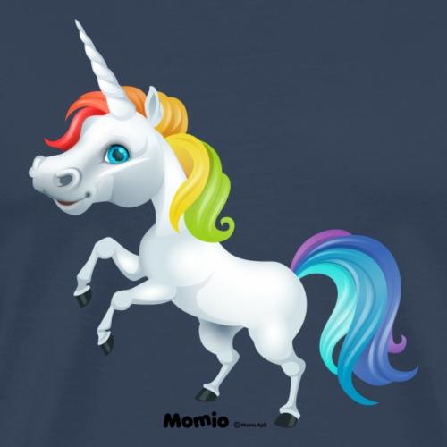 Rainbow yksisarvinen - Miesten premium t-paita