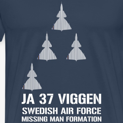 JA 37 Viggen - Missing Man Formation - Premium-T-shirt herr
