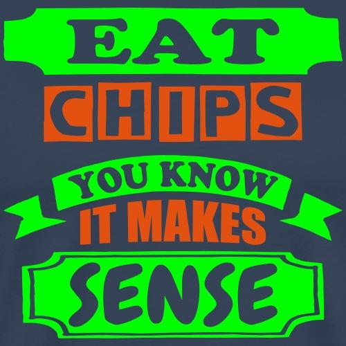 Eat Chips - Men's Premium T-Shirt