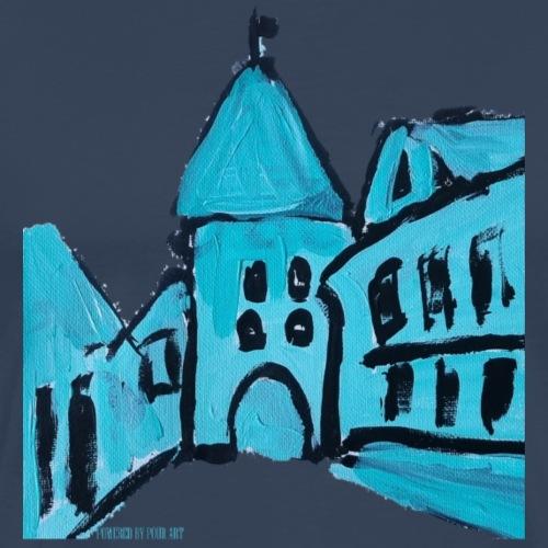 Middelalder København blå - Herre premium T-shirt