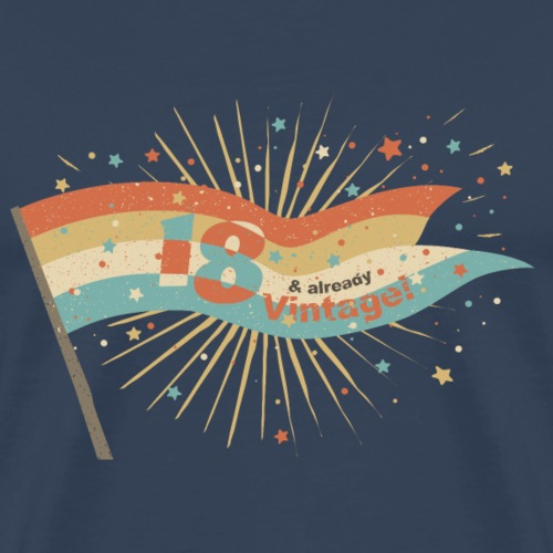 T-Shirt zum 18. Geburtstag Magic Vintage Wimpel