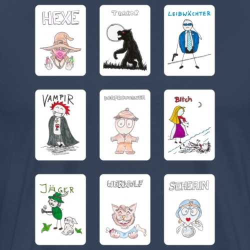 Standard Spielkarten - Männer Premium T-Shirt
